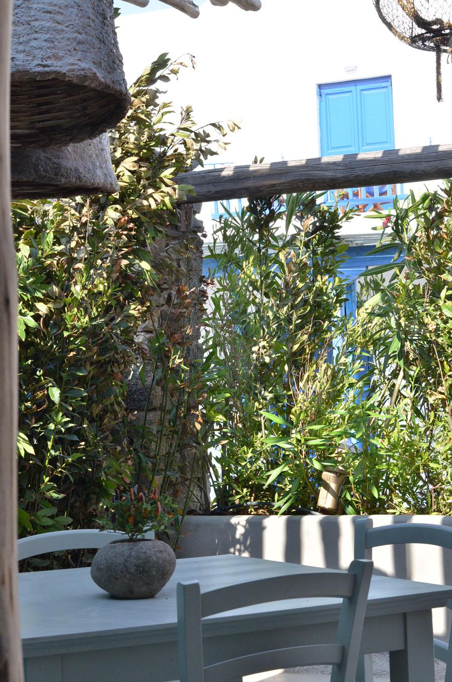 lovely Restaurant Decor in Mykonos, Greece - Stasha Travel and fashion Blog