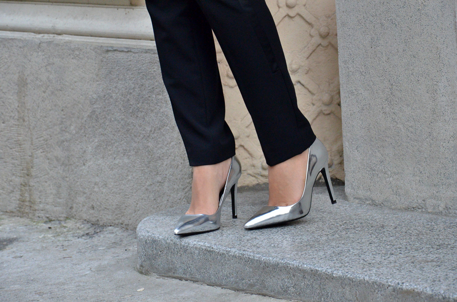 Silver shoes Outfit / Stasha Fashion by Anastasija Milojevic