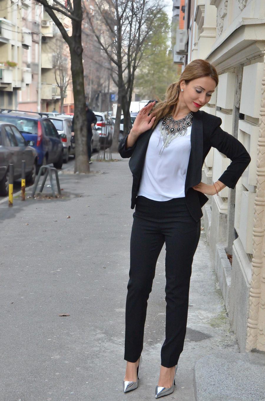 Women's tuxedo Outfit / Stasha Fashion by Anastasija Milojevic